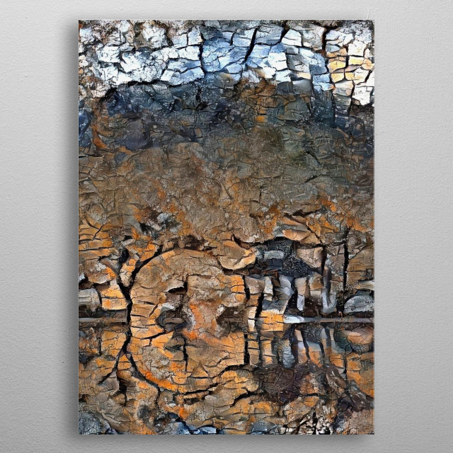 Abstract painting in Asian style metal poster