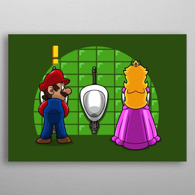 Mario discovers a little secret. metal poster