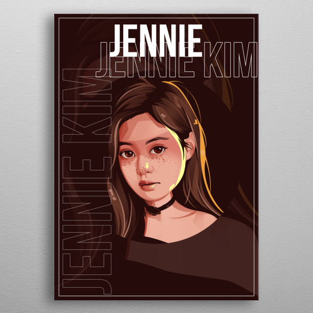Jennie Kim also known by the mononym Jennie, is a South Korean rapper and singer. metal poster