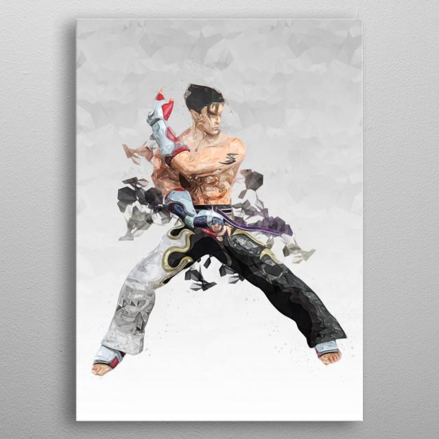 Jin Kazama Tekken metal poster