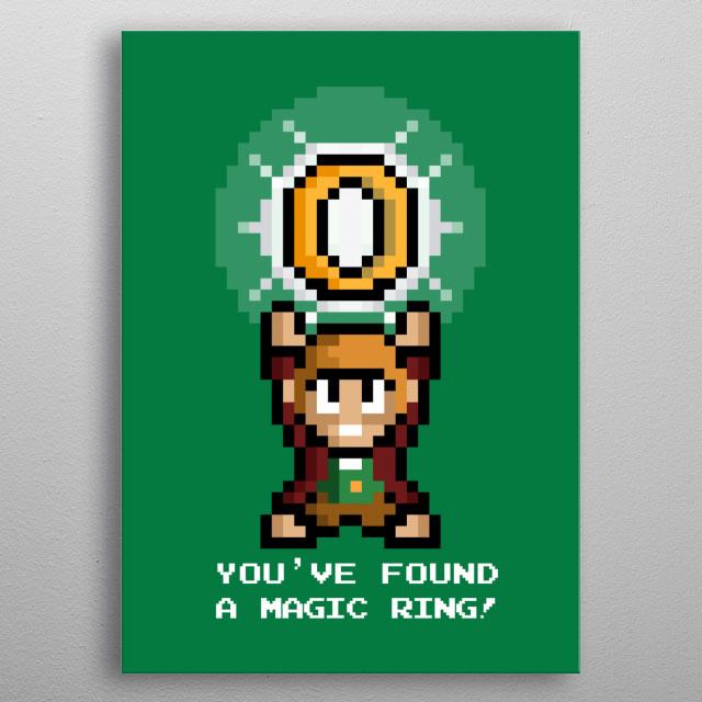 Pixel parody. metal poster