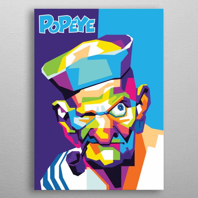 Popeye the Sailor man metal poster