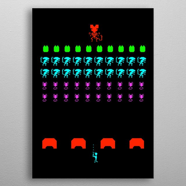 Pick your controller, marine! It's time to kill some aliens. metal poster