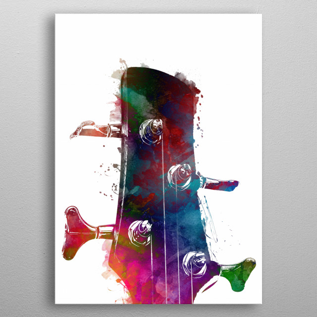 Guitar art  metal poster