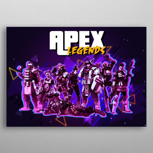 Apex Legends Retro inspired artwork metal poster