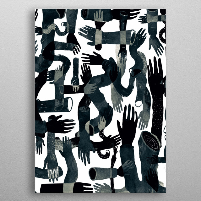 illustration metal poster