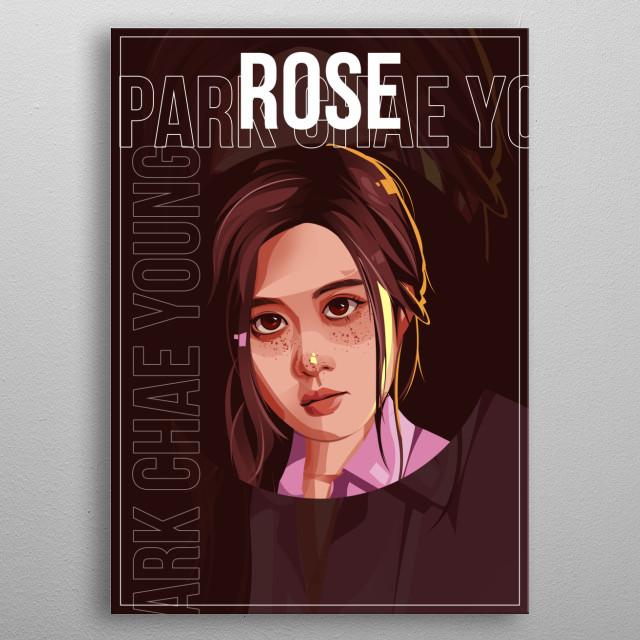 Rosé is a Korean-Australian singer under YG Entertainment. She is a member of the Korean pop girl group BLΛƆKPIИK. metal poster