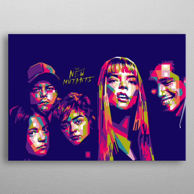 The Characters from the New Mutants movie metal poster