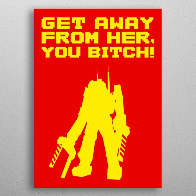 Don't make me ask again, queen. metal poster