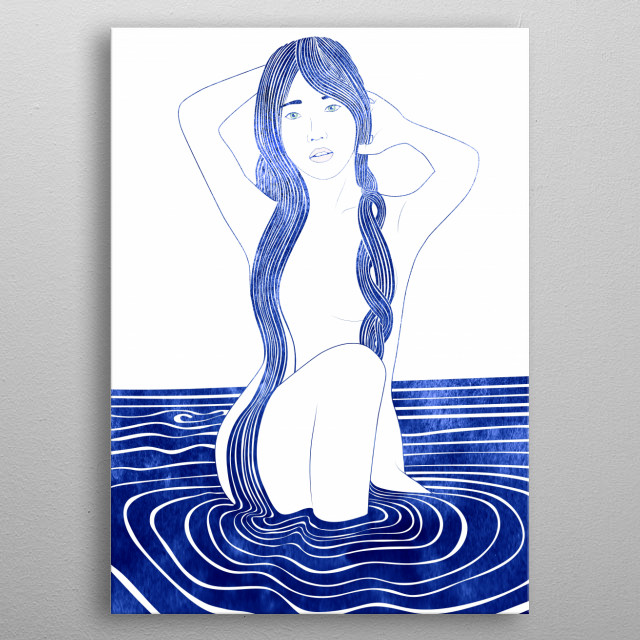 Dione —  A mythological nereid, meaning, the 'divine'. One of the daughters of the Nereus, the Old Man of the Sea. metal poster