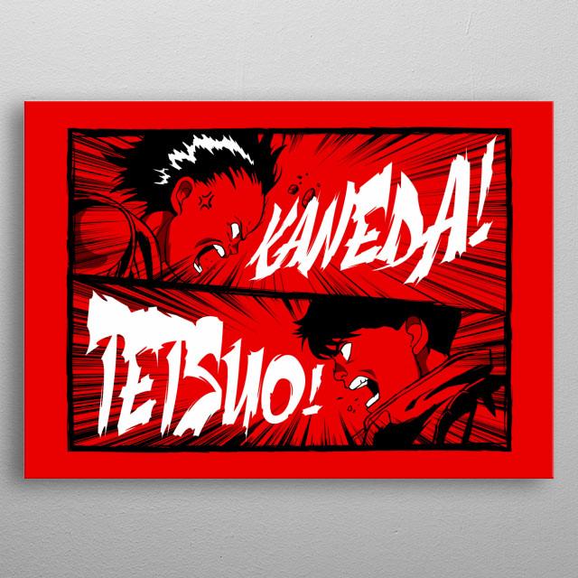 Kaneeeeedaaaaaaa! Tetsuoooooooo! metal poster