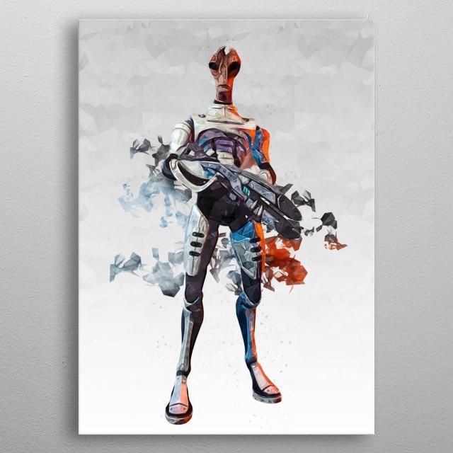 Mass Effect - Mordin Solus metal poster