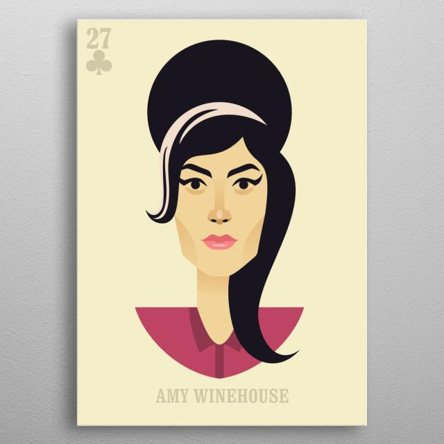Amy Winehouse vector illustration portrait metal poster