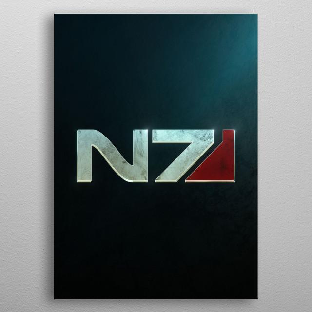 N7 metal poster