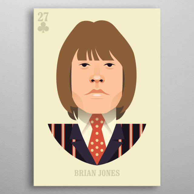 Brian Jones vector illustration portrait metal poster