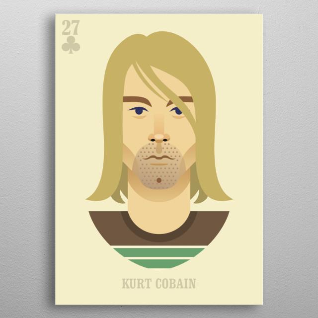 Kurt Cobain vector illustration portrait metal poster