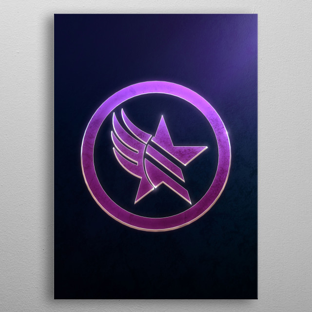 High-quality metal print from amazing Video Game Emblems collection will bring unique style to your space and will show off your personality. metal poster