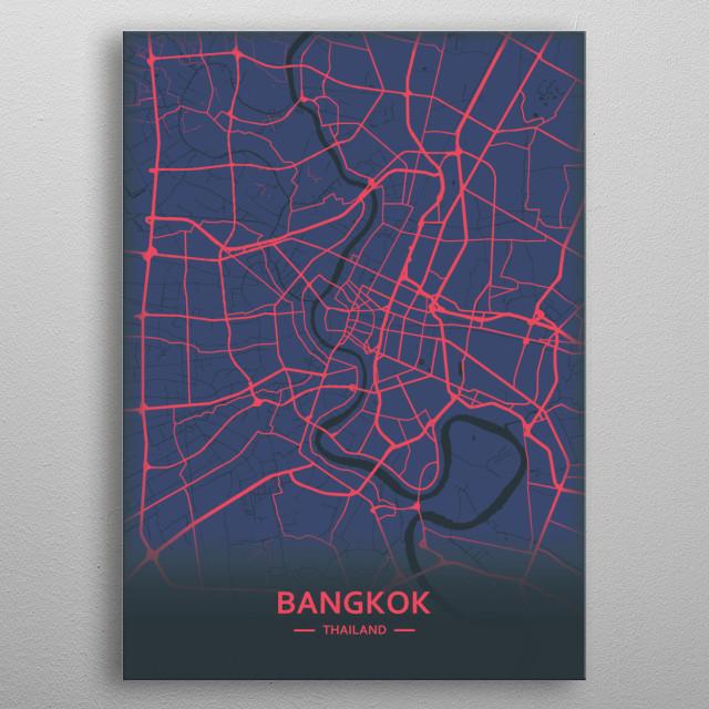 Bangkok. Thailand metal poster
