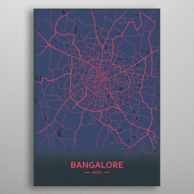 Bangalore, India metal poster