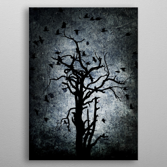 Photography digitally manipulated to get a darker look and feel. metal poster