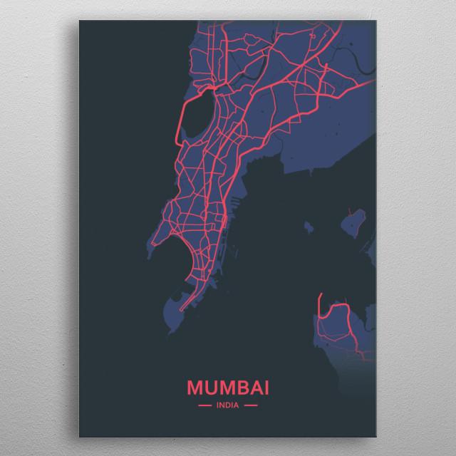 Mumbai, india metal poster