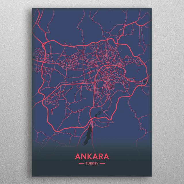 Ankara, Turkey  metal poster
