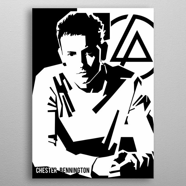 as an American singer, songwriter, musician, and actor. He was best known as the lead vocalist linkin park metal poster