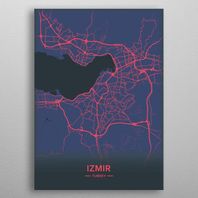 Izmir, Turkey  metal poster