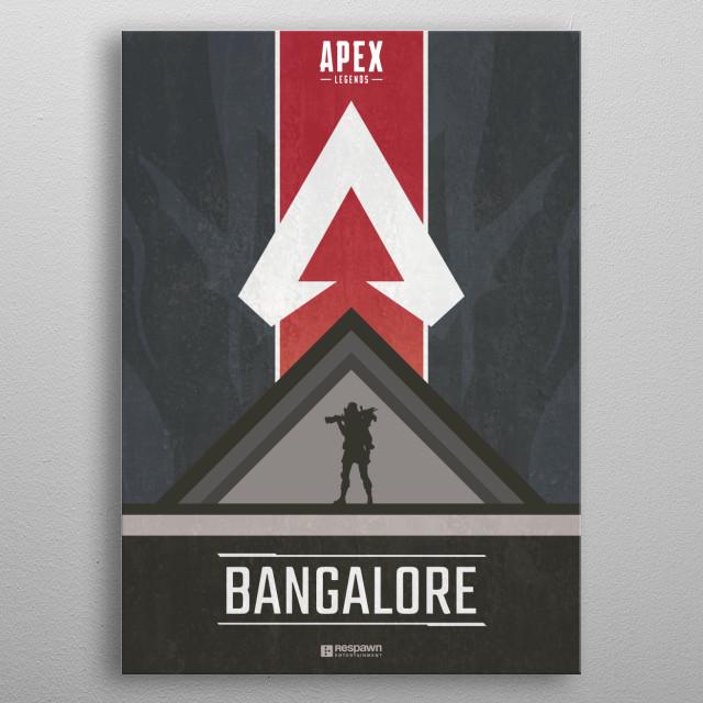 Bangalore Apex Legends, series of posters.  metal poster