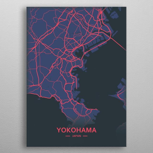 Yokohama, Japan metal poster
