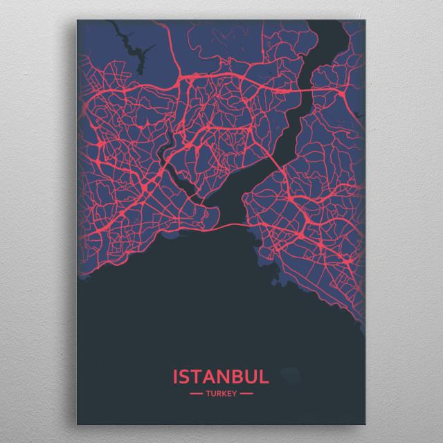 Istanbul, Turkey metal poster