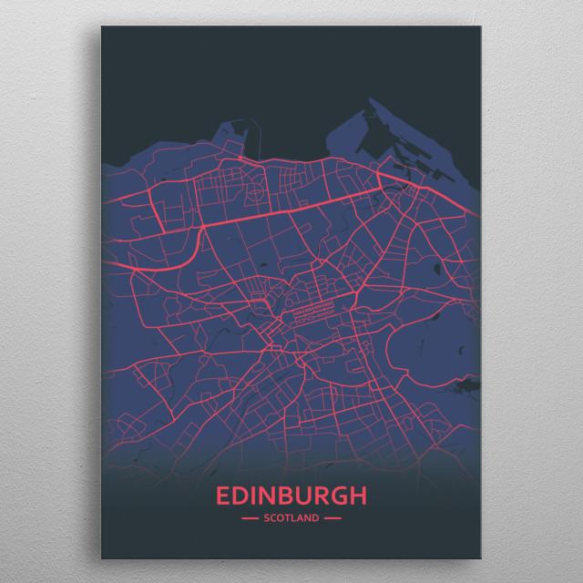 Edinburg, Scotland metal poster