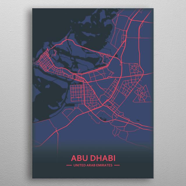 Abu Dhabi, UAE metal poster