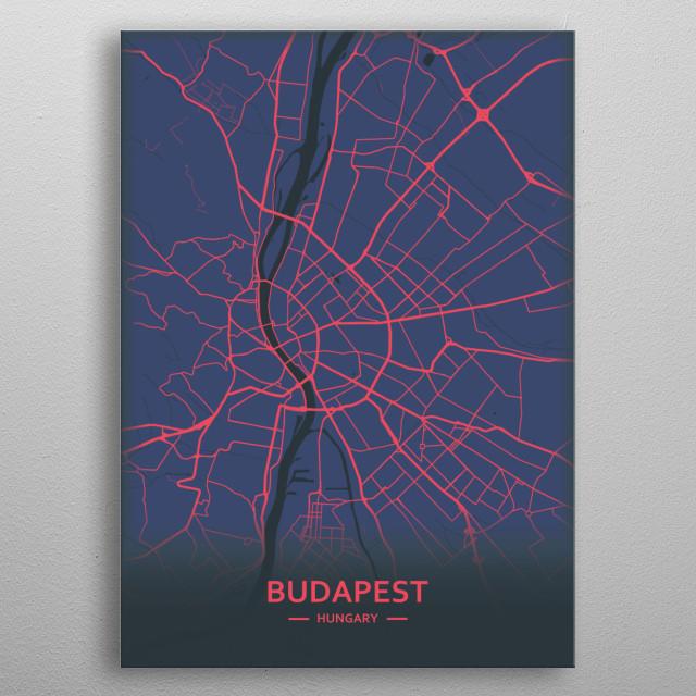 Budapest, Hungary metal poster