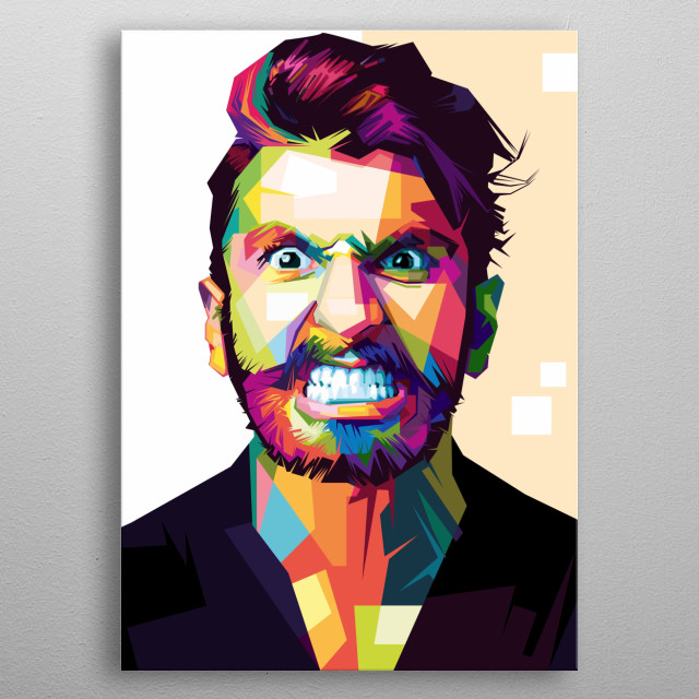 there are Ranvir Sigh with WPAP style metal poster