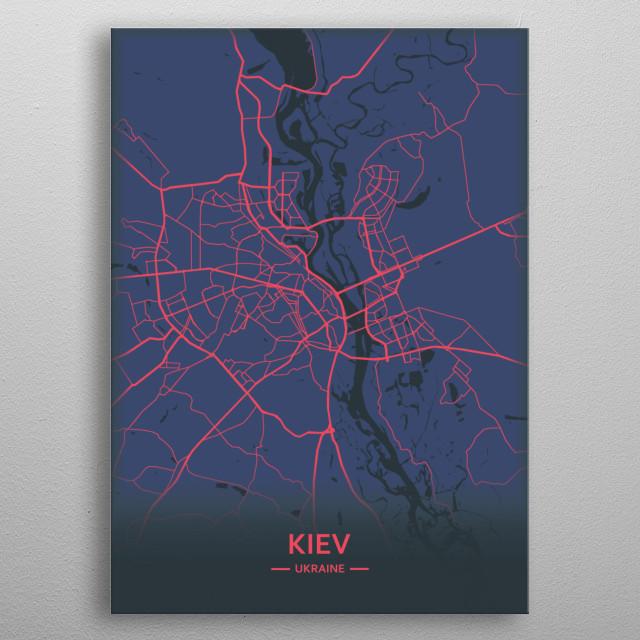 Kiev, Ukraine  metal poster