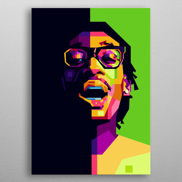 Wiz Khalifa a singer, rapper, and songwriter from the United States. metal poster