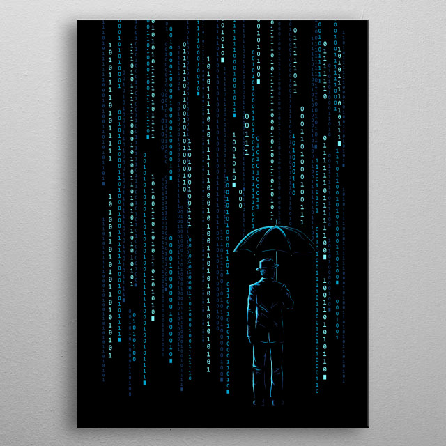 Take shelter from the digital storm of modern times. metal poster