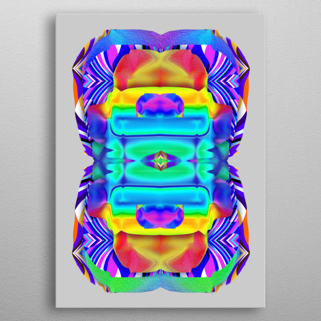 A portrait of Source energy before it crystalized into You :D:D:D:D:D = 93' till INFINITY = metal poster