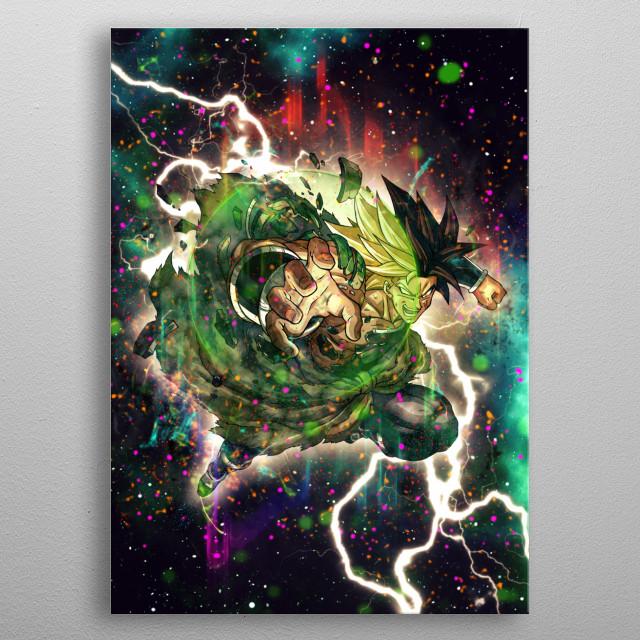 super broly metal poster