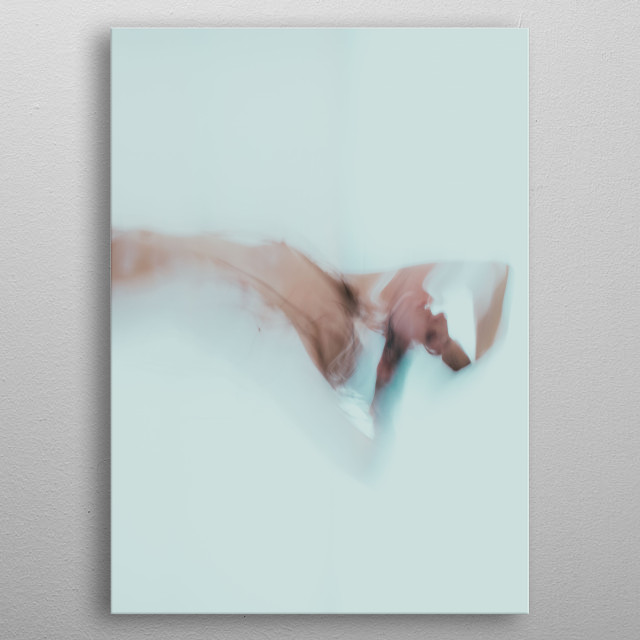 abstract photograph of a nude girl metal poster