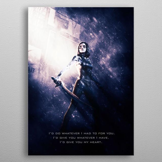 Alita 99 Battle Angel movie inspired artwork metal poster