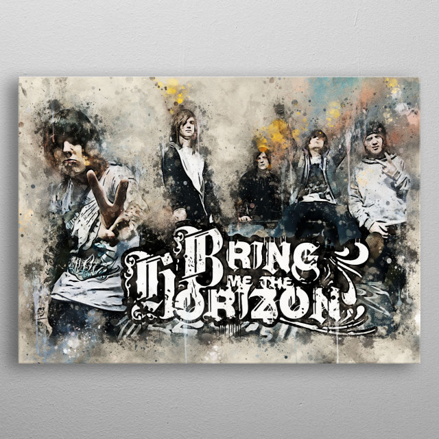 Bring Me the Horizon, often known as BMTH, is a British rock band from Sheffield, South Yorkshire. Formed in 2004 metal poster