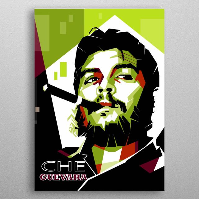 Che Guevara metal poster