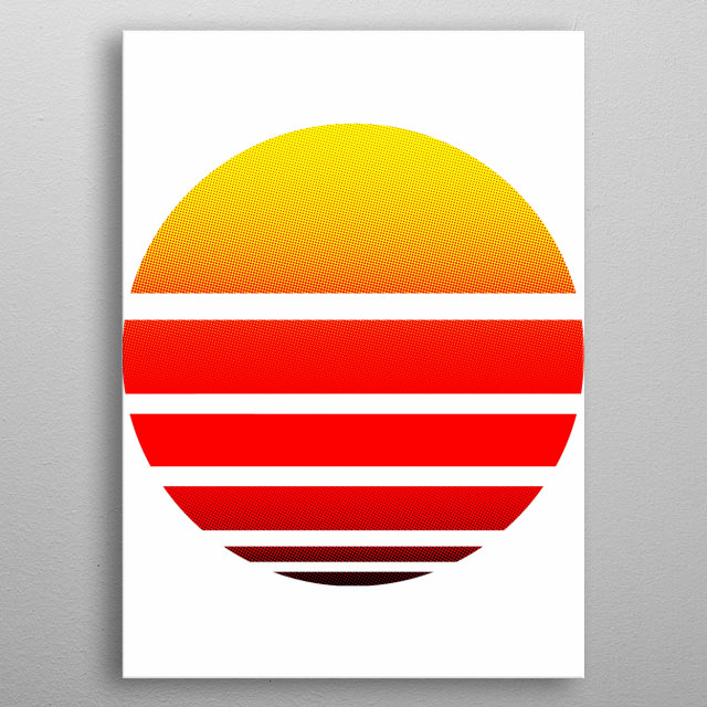 What more can I say, but by looking at the setting sun... I see my wicked ways. metal poster