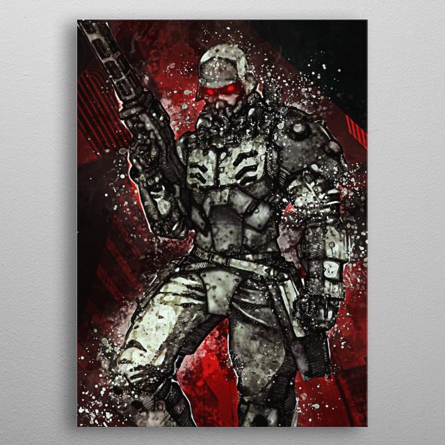 Jin Roh wolf brigade metal poster