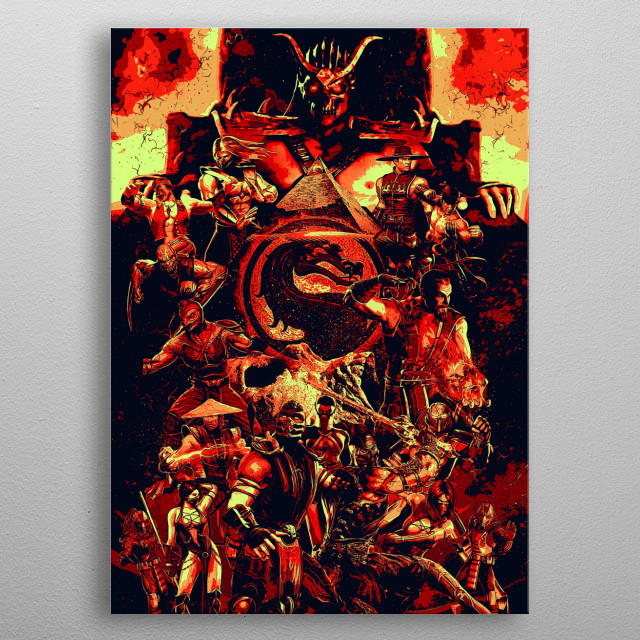 Mortal Kombat 9 komplete edition metal poster