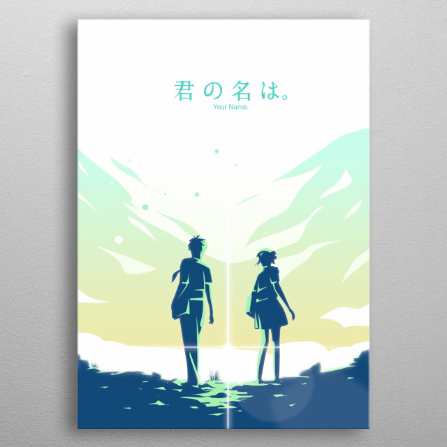 Kimi No nawa (Your Name) Illustration metal poster