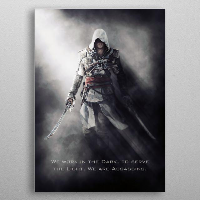 An Assassin's Creed Black Flag inspired artwork metal poster