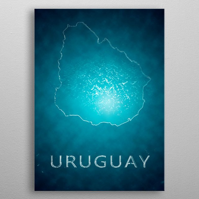 A poster of Uruguay  metal poster